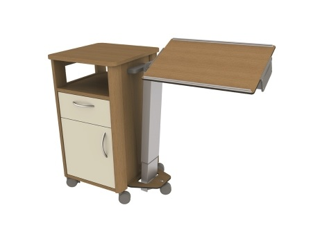 drawers overbed table drawer ezserver us pinterest hospital with pin